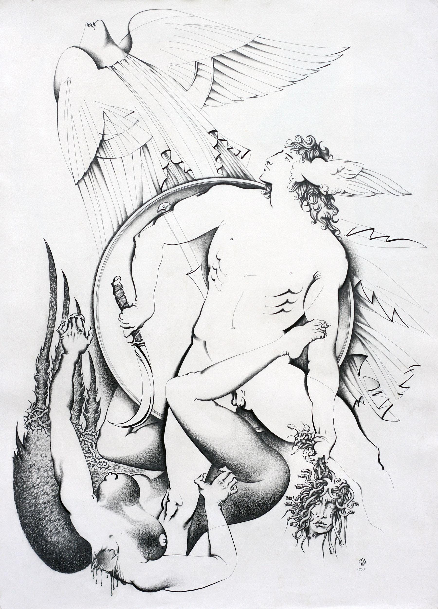 Освобождение души медузы, из цикла «Леди-Горгона»